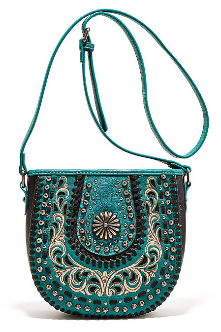 Hardware embroidered western bag image