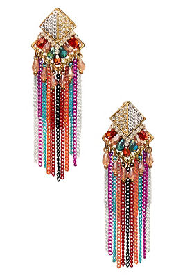 multichain fringe earrings