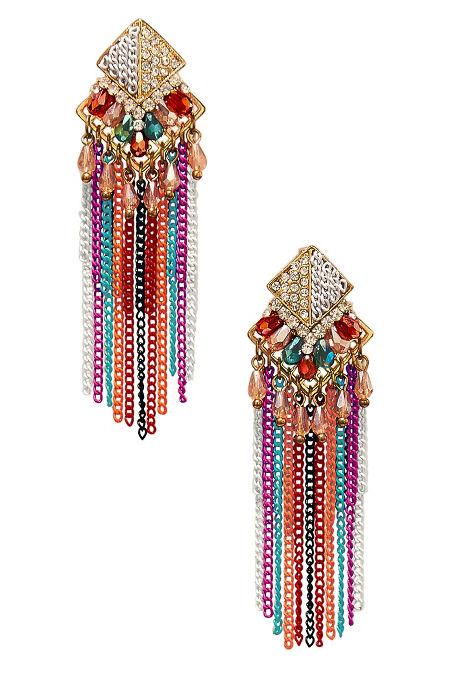 Multichain fringe earrings image
