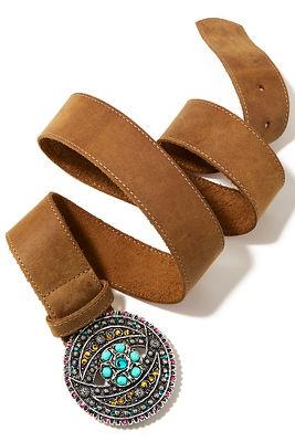 Multi turquoise buckle belt