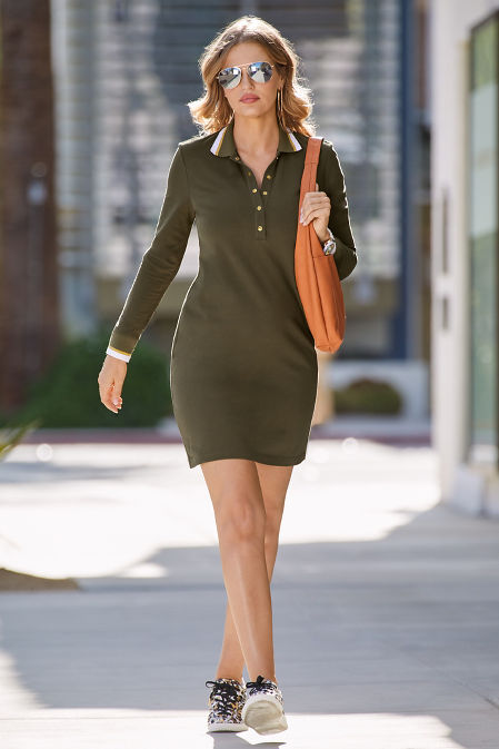 Chic Snap Front Collared Dress image