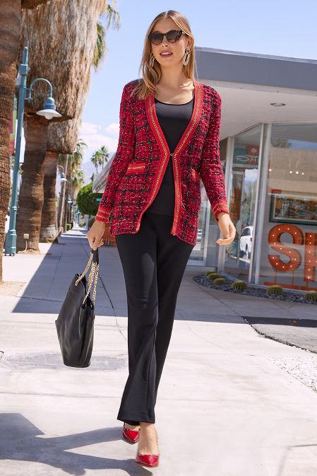 Tweed Chain-Trim Sweater image