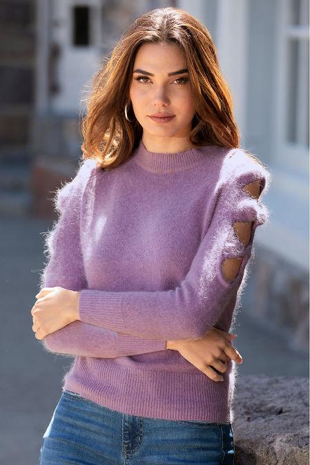 Cutout Long-Sleeve Sweater image