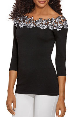 Lace Trim Detail Sweater