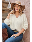 Cozy V-neck Sweater Photo
