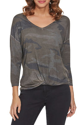 Camo Relaxed Long-Sleeve Top