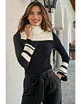 Color Block Turtleneck Sweater Photo