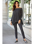 Relaxed Fold Over Tunic Sweater Photo