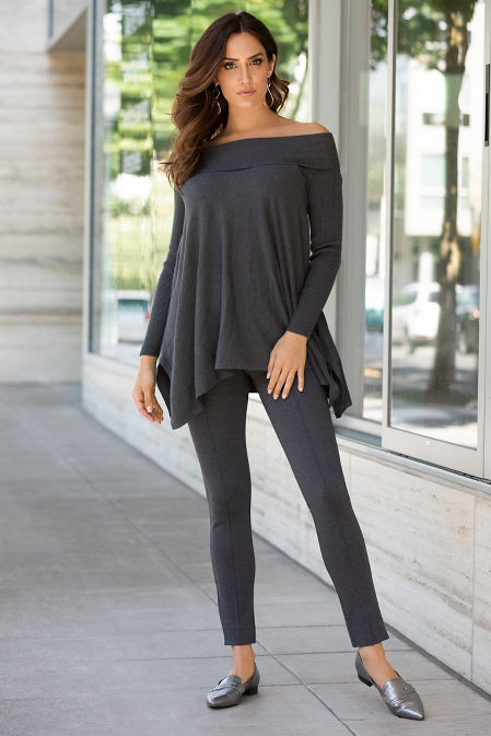 Relaxed Fold Over Tunic Sweater image