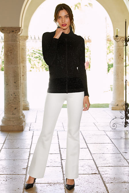 Embellished Front Turtleneck Sweater image