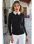 Embellished Collar Sweater Photo