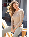 Shimmer Long-sleeve Sweater Photo