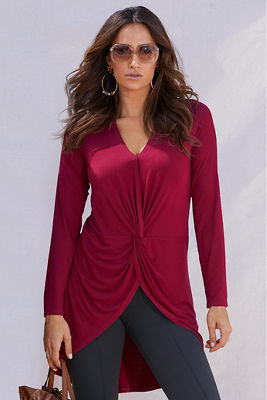 Drape Knot-Front Top