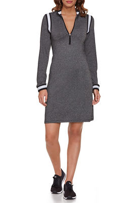 Zip-Up Track Stripe Sport Dress
