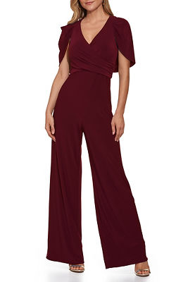 Surplice Puff-Sleeve Jumpsuit