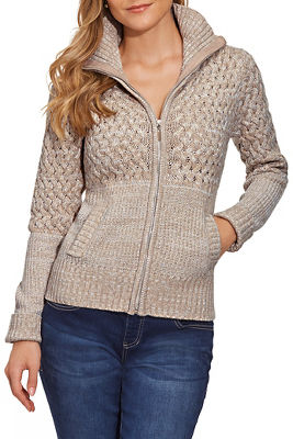 Cable Zip-Up Cardigan