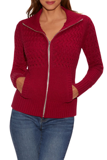 Cable Zip-Up Cardigan image