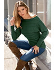 Slouchy Cable Sweater Photo
