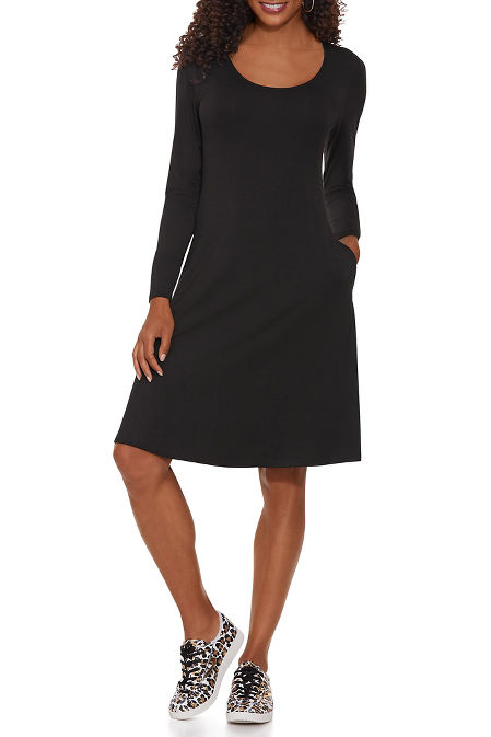 Beyond Basics Long Sleeve Swing Dress image