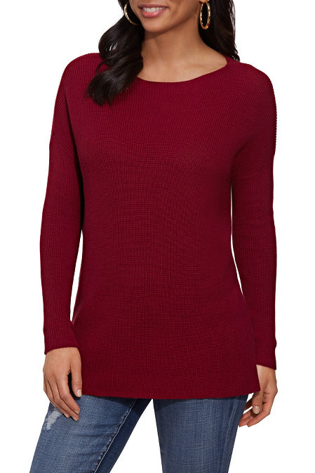 Long Sleeve Relaxed Sweater image