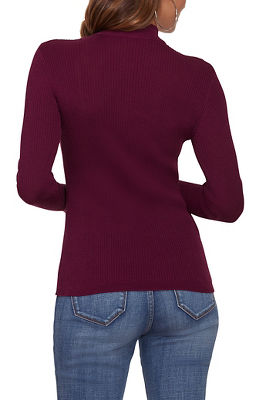 Ribbed Half Zip-Up Sweater