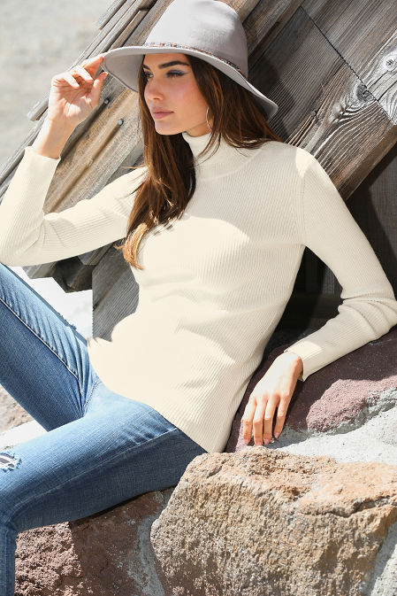 Ribbed Turtleneck Sweater image