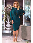 Beyond Basics Cold Shoulder Ruched Blouson Dress Photo