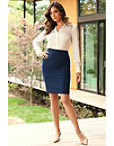 Chic Crepe Pencil Skirt Photo