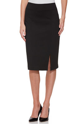 Proper ponté pencil skirt