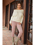 Cozy Embellished Cable Sweater Photo