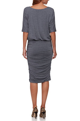 Blouson Ruched Dress