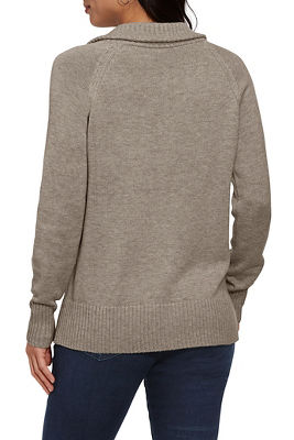 Relaxed Proper Zip-Up Cardigan
