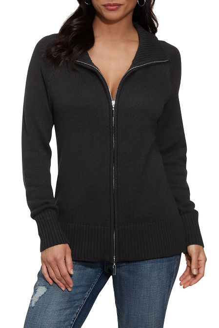 Relaxed Proper Zip-Up Cardigan image