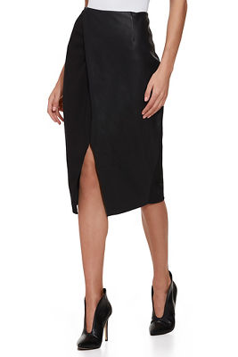Vegan Leather and Ponté Skirt