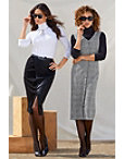 Vegan Leather And Ponté Skirt Photo