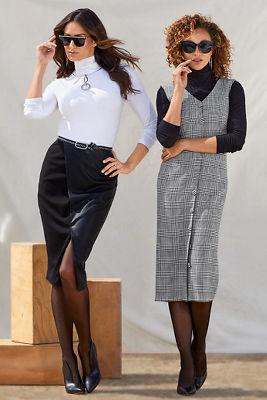 Vegan Leather and Ponté Skirt