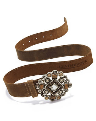 taupe stone buckle belt