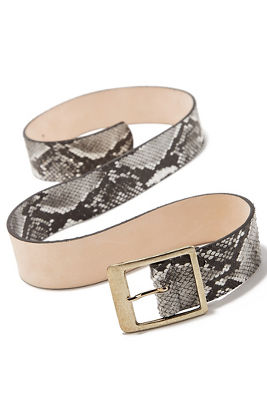 Classic Snake-Print Belt