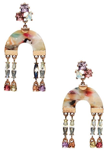 Pastel Resin Dangle Earrings image