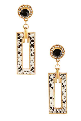 rectangle snake earrings