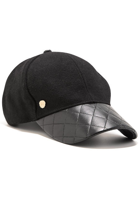 Quilted Vegan Leather Baseball Cap image