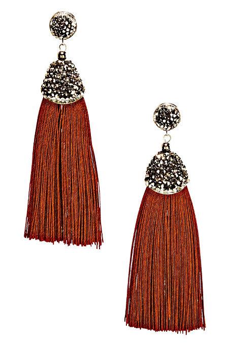 Rhinestone Tassel Earrings image