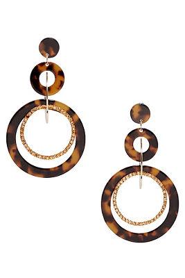 Multihoop Tortoise Earrings