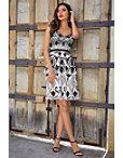 Beaded Sleeveless Tiered Dress Photo