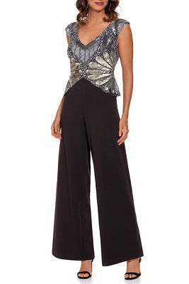 Sequin overlay jumpsuit