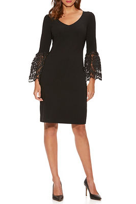 Beyond Travel™ Lace Flare-Sleeve Sheath Dress