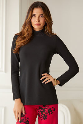 Beyond Travel™ Mock-Neck Long-Sleeve Top