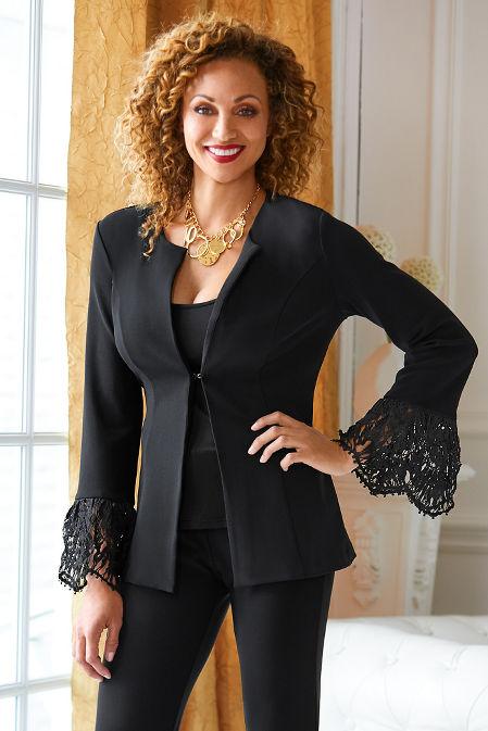 Beyond Travel™ Lace Flare-Sleeve Jacket image