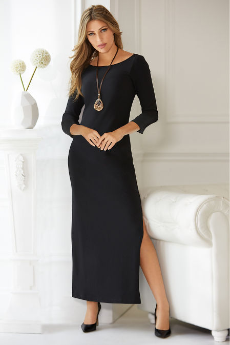 Beyond Travel™ Three-Quarter Sleeve Maxi Dress image