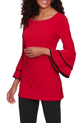 Beyond Travel™ Ruffle Flare-Sleeve Top